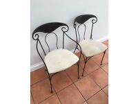 8 Wrought iron dining chairs