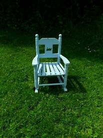 Childs painted rocking chair