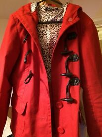 Red George Duffle Jacket size 14