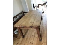 Beautiful antique rustic French farmhouse dining table