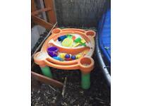 Sandpit (& sand), toys & lid