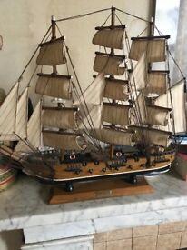 Frigate galleon 18 century model