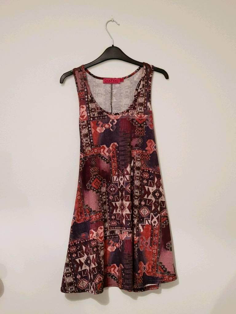 Ladies/womens/girls size 10 patterned dress