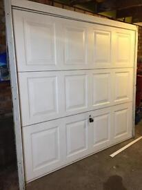Garage door and frame up and over