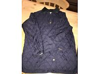 Ladies Barbour Quilted Navy Jacket size 18 excellent condition