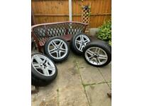 AMG alloy wheels and tyres
