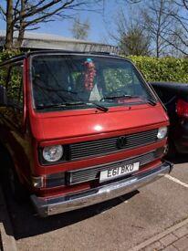 1987 WV T25 Campervan 1.9 Petrol LHD Custom Paint Huge History