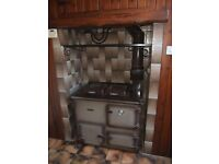 Rayburn Nouvelle Gas cooker and boiler providing cooking hot water and central heating