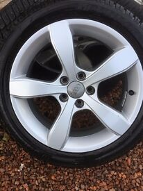 Audi A1 Alloys with Winter Tyres