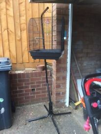 Lovely birdcage and stand with extras