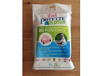 30 disposable potty liners