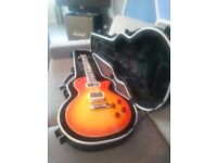 """Marvit """"Mahat"""" (Gibson Les Paul style) boutique Italian made electric guitar (Cherry Burst)"""