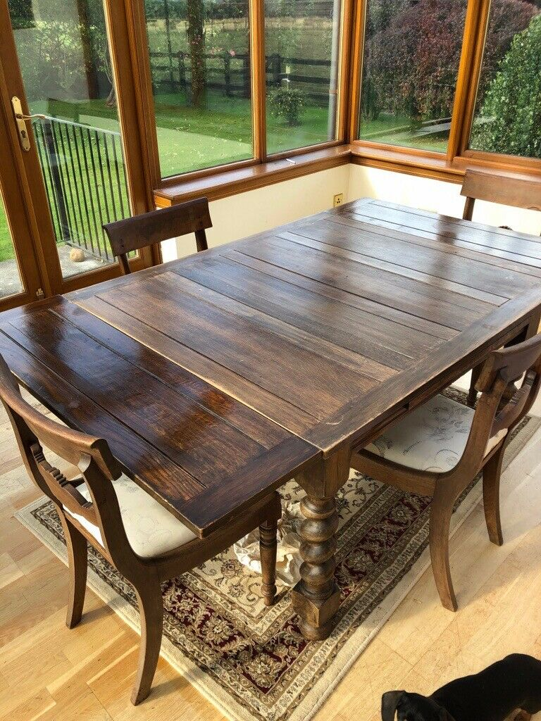 Dining Table, Good working order. Adjustable length 6' or ...