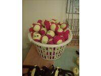 Mini red slow coach tennis balls