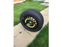 Full size Skoda superb spare wheel with brand new continental tyre