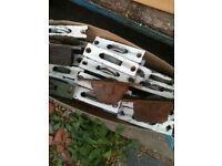 Vintage sash window pulleys (78 in total)