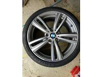 "Genuine BMW 19"" 442m Alloys New front Michellin PS4 tyres, wheels and tyres"