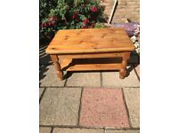 Solid pine coffee table (can deliver)