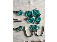 Curtain hooks and pole ends- £10 per set