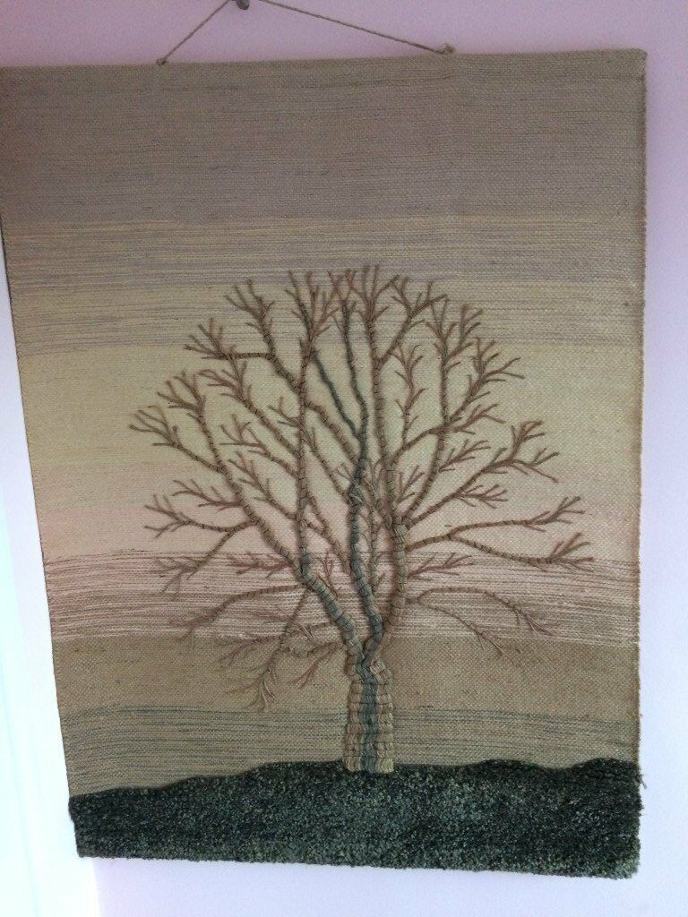 Large fabric tree picture