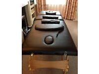 Portable massage table,never used.with carrier bag and accessories