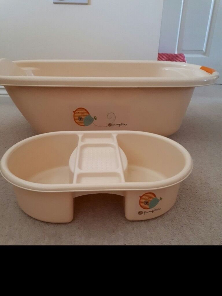 Lovely Pumpkin Baby Bath and Top to Toe Bowl in excellent condition ...