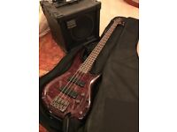RARE! Ibanez Bass Guitar + Roland Cube Bass Amp