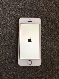 Apple IPhone SE 64GB On O2 Rose Gold excellent condition