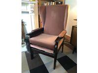 Vintage wingback armchair