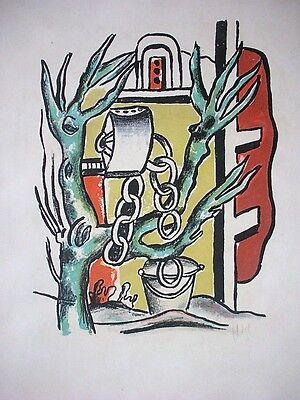 Fernand Leger, Original Lithographie 1951, signiert, 'Le Puits'