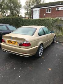 GOLD BMW 318ci Coupe