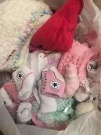 Baby hats and socks bundle