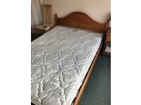 Wooden Bed and Mattress