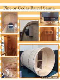 Beautiful barrel sauna, electric or coal fired, a amazing addition to garden, caravan, holiday home