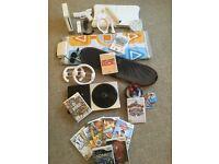 DELUXE BUNDLE - Nintendo Wii Console + Wii Fit Board + Skylanders + Dance Mat + 12 Games + More