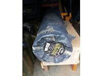 Roll of damp proof membrane / toughsheet 4 metre x 25 metres, black, 300 microns £30