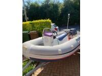 Good inflatable Yamaha Ribeye with Yamaha 15Hp 4 stroke engine and serviced road trailer