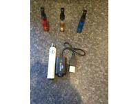 E-cig battery and clearomiser