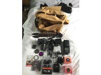 Nikon D7100 24.1 MP SLR camera and accessories