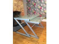 Contemporary metal and glass desks