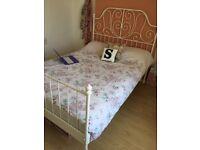 White bed frame IKEA (Leirvik)