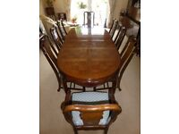 Imperial Dynasty dining table 8 chairs
