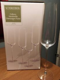 REDUCED PRICE 4 BRAND NEW Schreiber Champagne Glasses