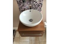 Hand Basin and Drawer Unit