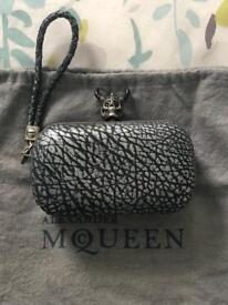 Quirky Skull Clutch bag in pewter colour. V good condition