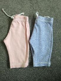 Set of John Lewis baby leggings,newborn