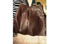Faux Leather skirt, Zara