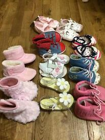 6-12 months £12 girls shoes