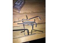 Assorted Allen keys