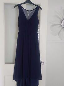 NAVY MAXI DRESS uk size 10